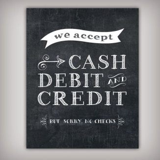 Craft Show Credit Card Sign